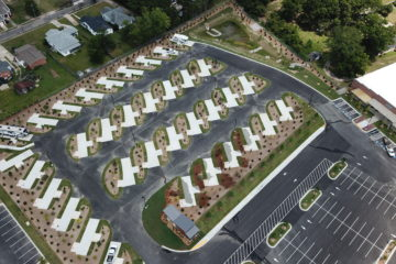 Aerial view of CrossRoads Coach Resort