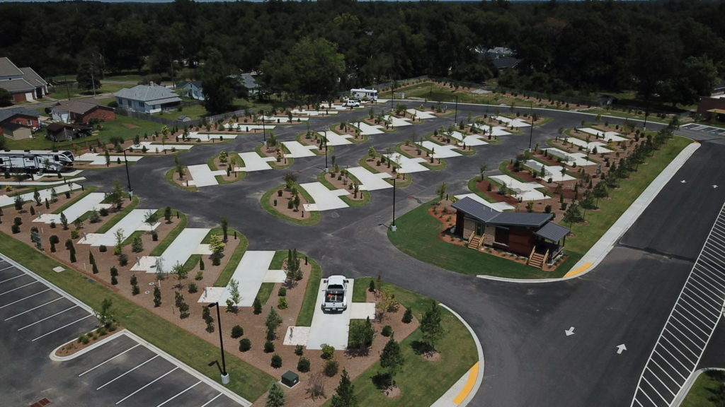 Aerial View of CrossRoads Coach RV park