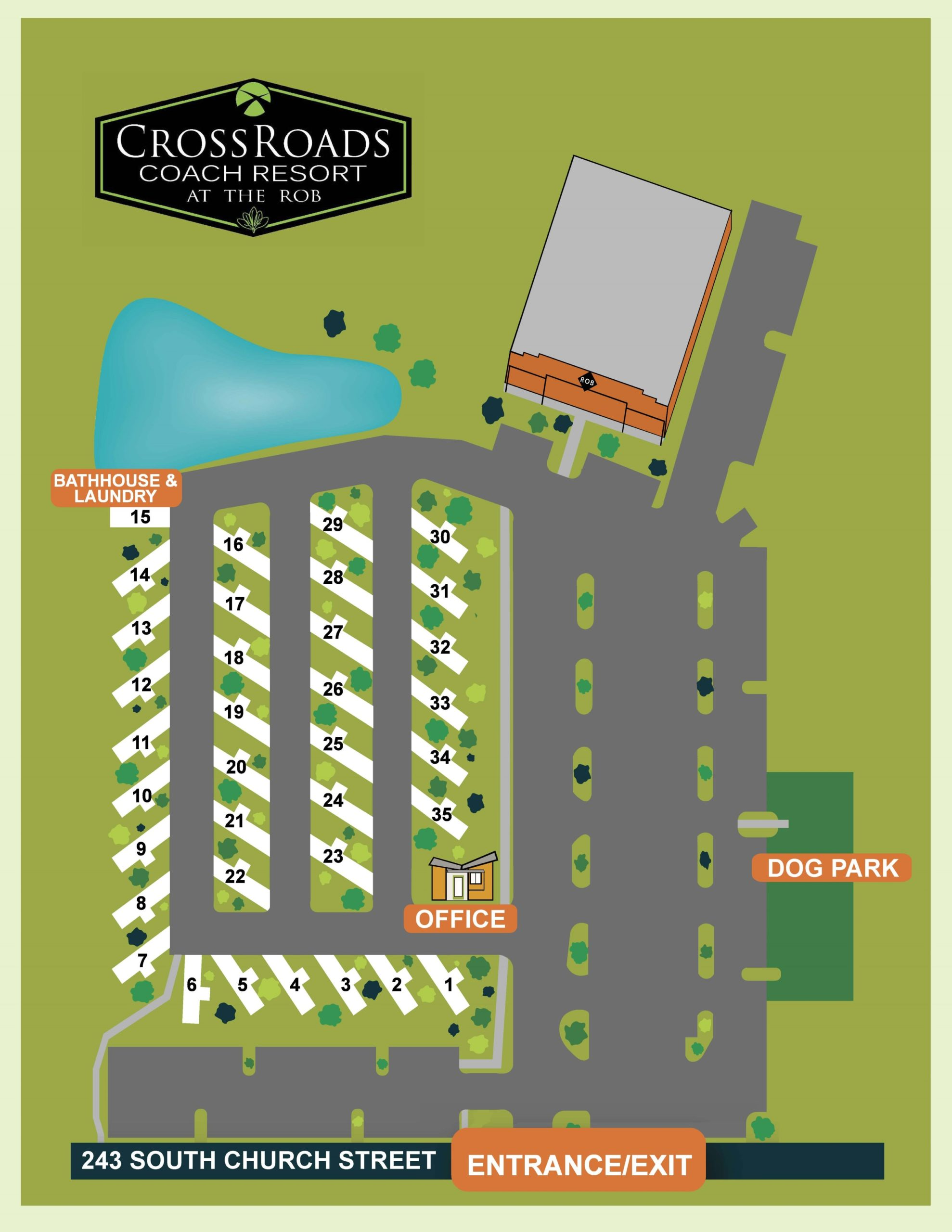 CrossRoads RV Park Site Map